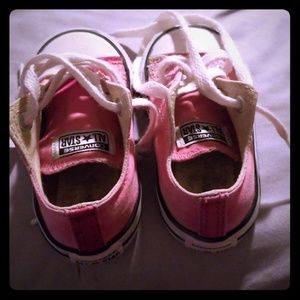 Super cute baby pink Authentic chucks.